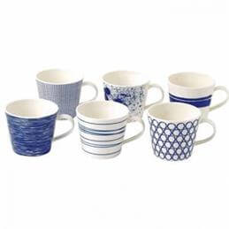 Royal Doulton Pacific Set Of 6 Mugs