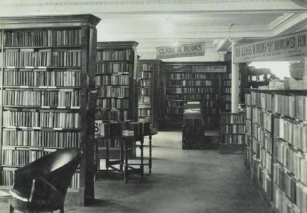 The London Street store's library