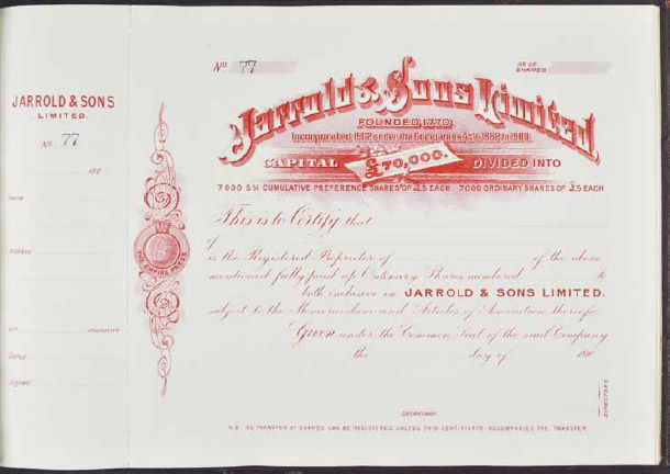 Jarrold is registered as a limited company in 1902