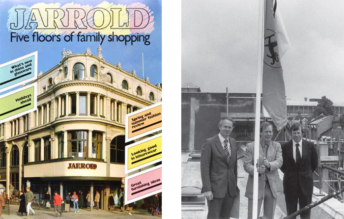 Jarrold's Spring Catalogue 1986 and topping out the new store