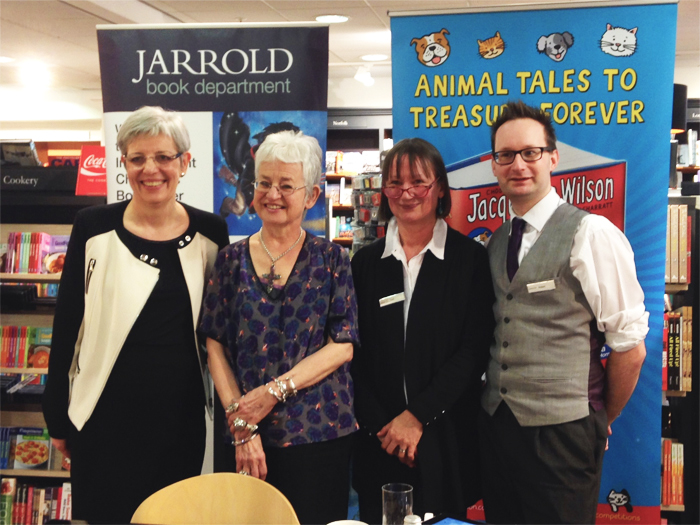 Jacqueline Wilson and the Books team