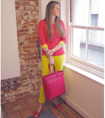 How to Wear Brights - Outfit 1