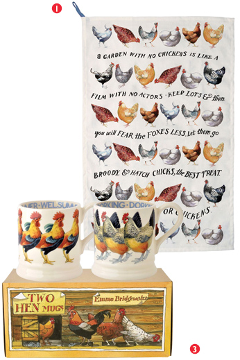 Emma Bridgewater Towel and Mugs