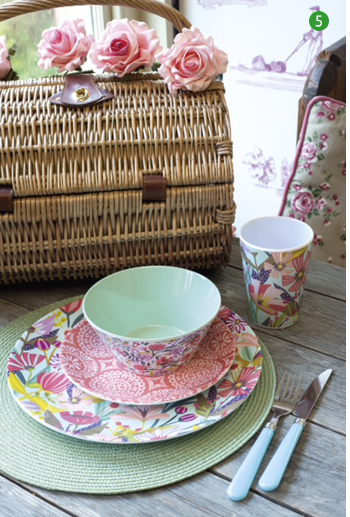 Garden Party melamine outdoor party wear