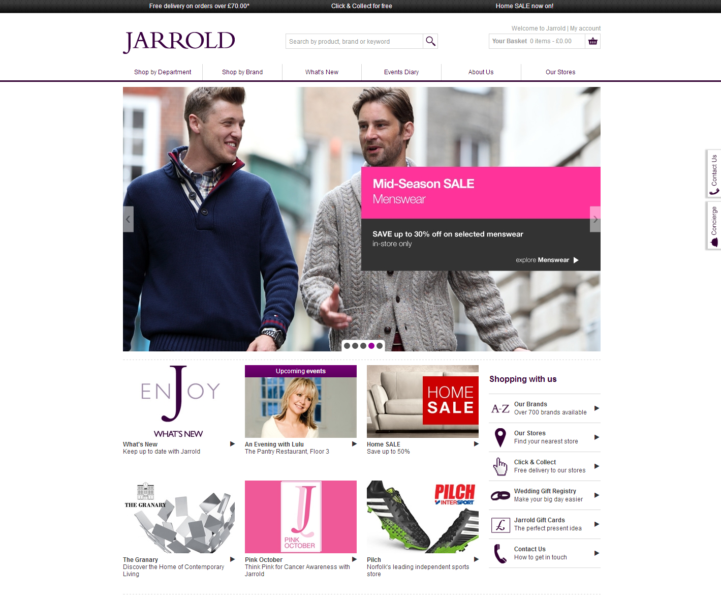 Jarrold's brand new website