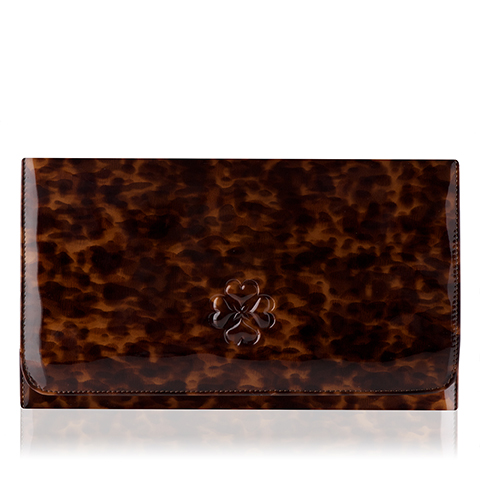 L.K.Bennett Frome Tortoiseshell clutch bag, available at Jarrold Norwich