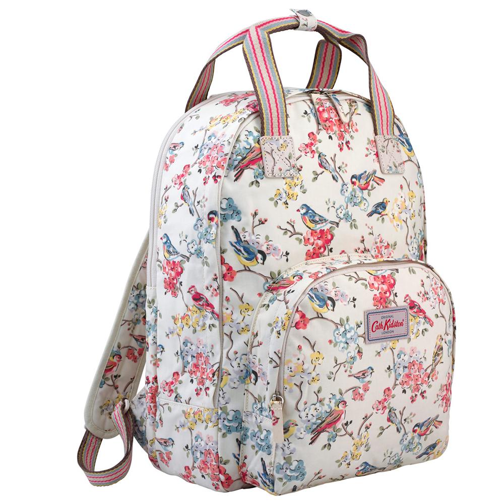 cath kidston blossom birds multi pocket backpack jarrold. Black Bedroom Furniture Sets. Home Design Ideas