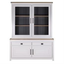 Jura Glazed Display Dresser in Oiled Grey Finnish