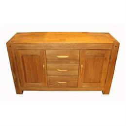 Halo Madison Three Drawer Two Door Sideboard in Oiled Oak