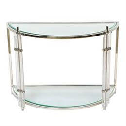 Art Deco Crescent Console Table