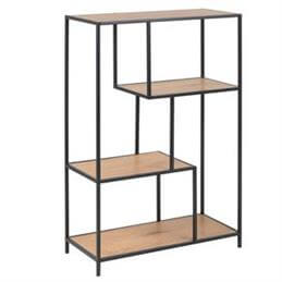 Atlanta Medium Four Shelf Asymmetric Bookshelf