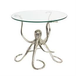 Octopus Side Table with Glass Top