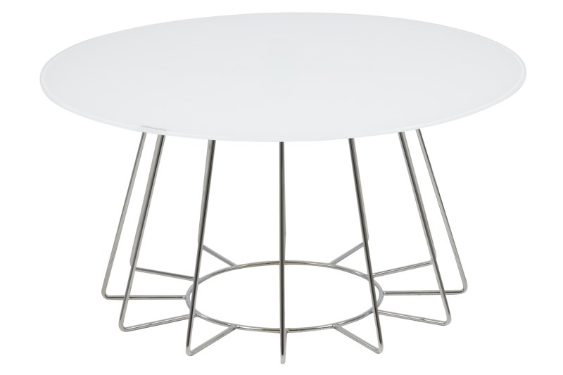 Ascari Crystal Clear White Coffee Table