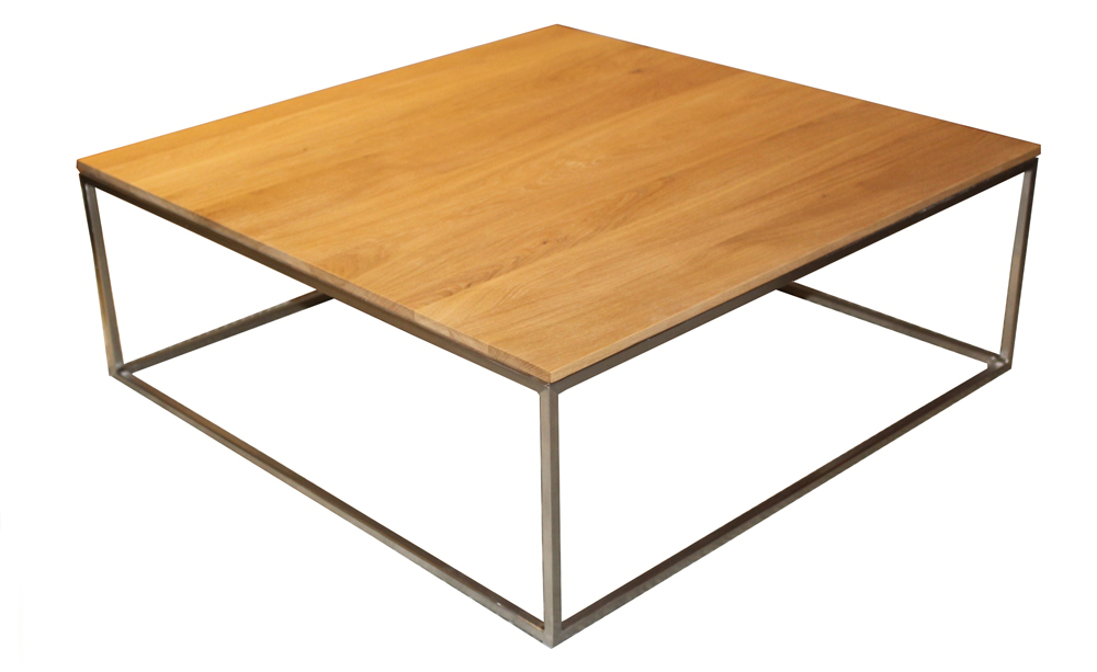 Thin square coffee table in oak jarrold norwich for Coffee tables norwich