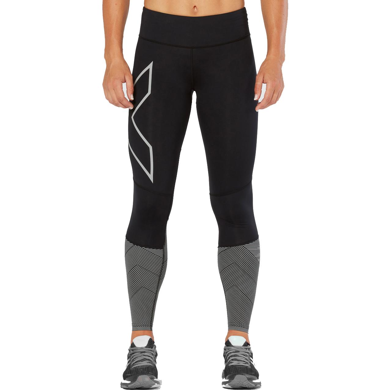 85aa082d59b14d 2XU Women's Midrise Reflect Compression Tights | Womens Fitness ...