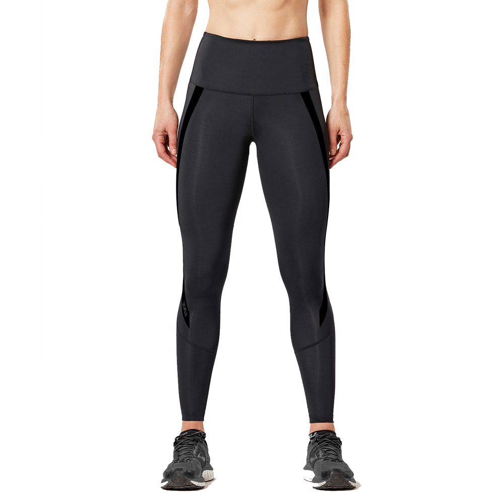 08bae743 2XU Women's Hi-Rise Compression Tights- Black | Womens Fitness ...