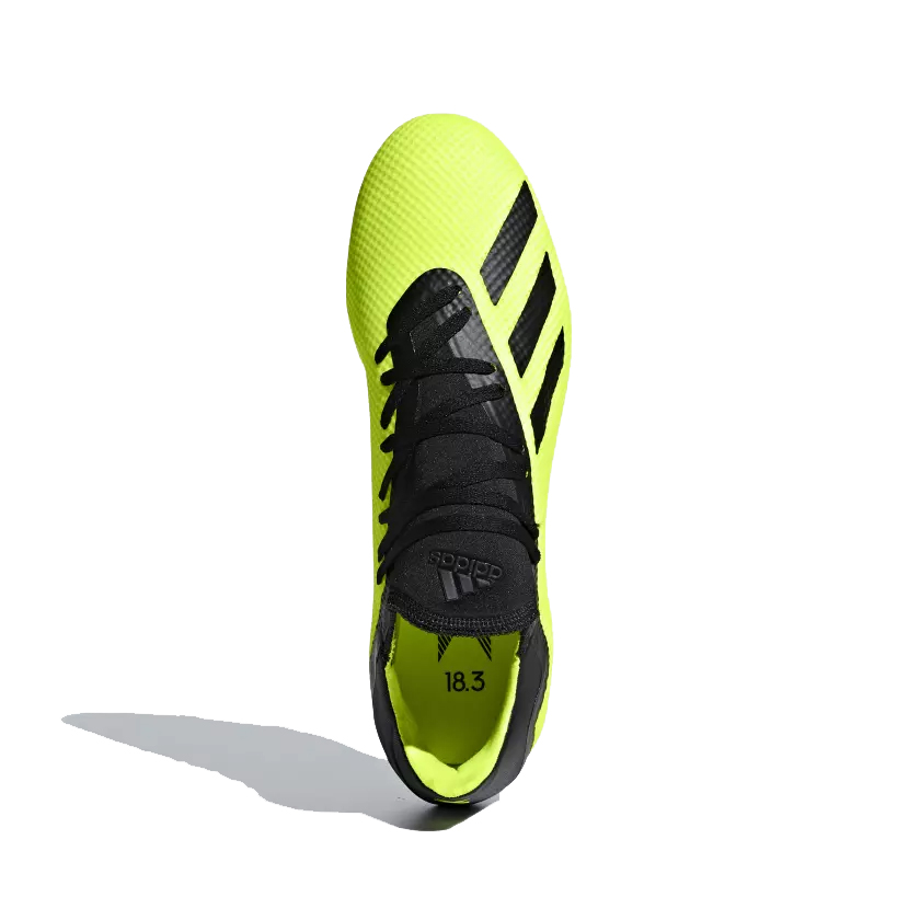 sale retailer 62721 5491a Adidas Mens X 18.3 Firm Ground Football Boot- Solar Yellow