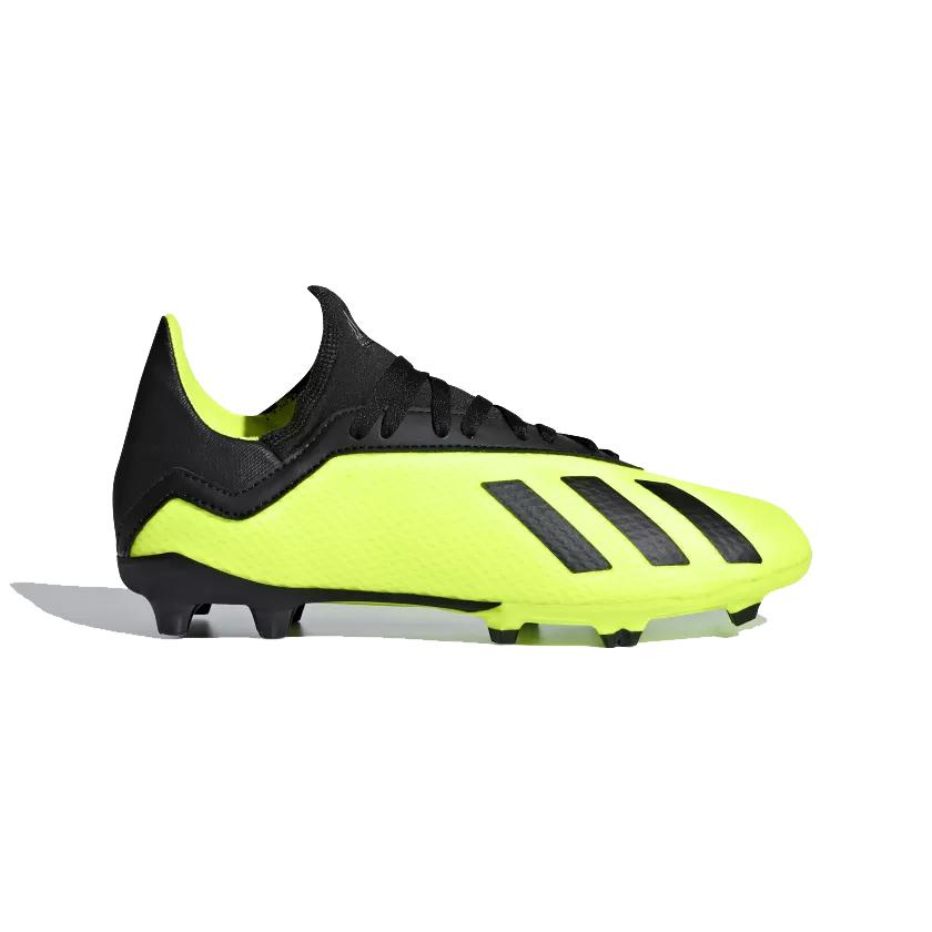 4c9bb546bcd Adidas Junior X 18.3 Firm Ground Football Boots- Solar Yellow