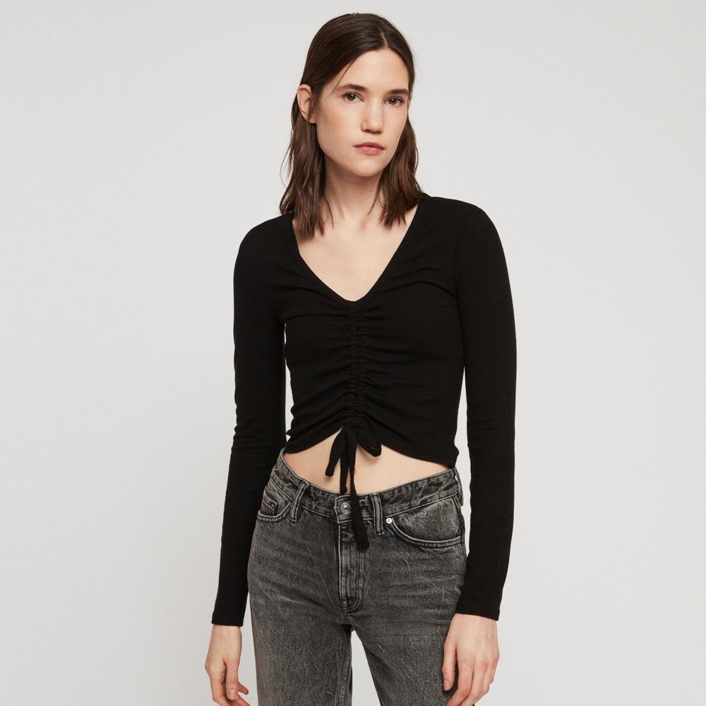 23c9aa8ac71 AllSaints Rina Cropped T-Shirt