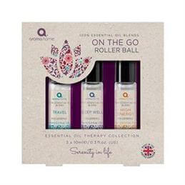 Aroma Home On the Go Essential Oil Blends Rollerball Set