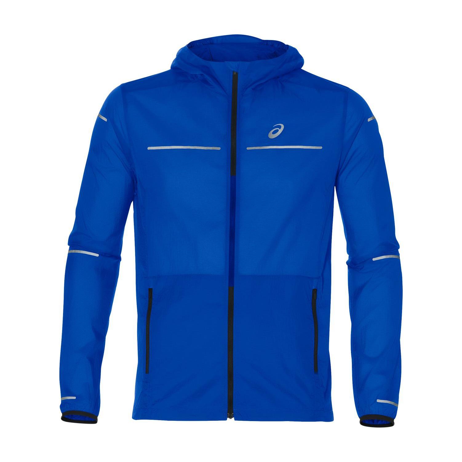 70b98379a Asics Men's Lite-Show Running Jacket - Illusion Blue | Men's Coats ...