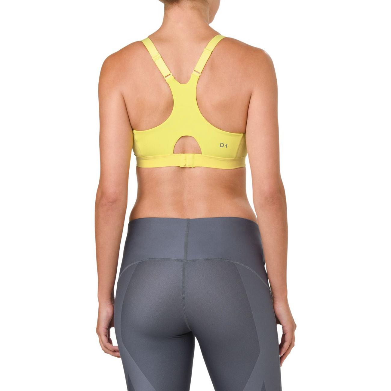 2f15496b32 Asics Women s Zero Distraction 2.0 Running Sports Bra - Lemon Spark ...