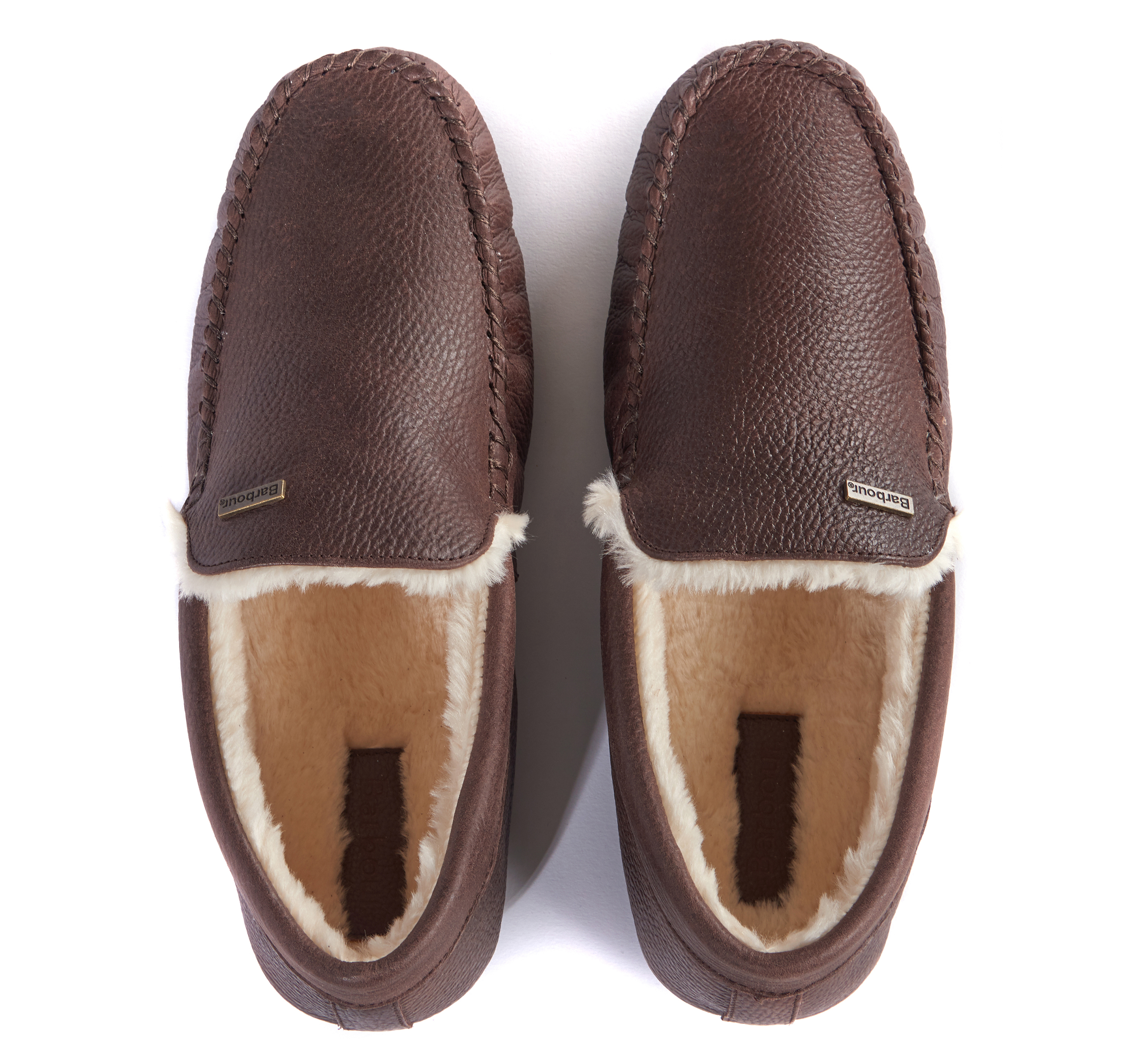 db64a90a43d2 Barbour Monty Moccasin Leather Slippers