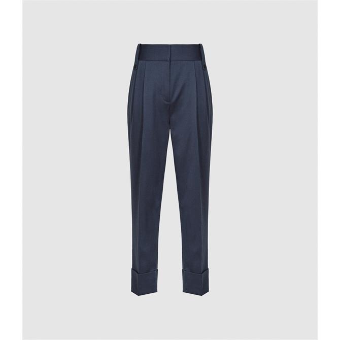 REISS MAE Wool Blend Pleat Front Trousers