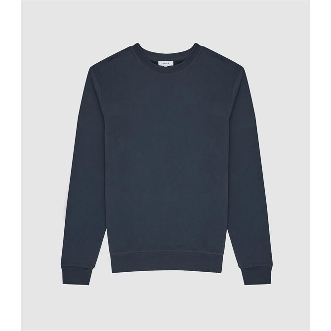 REISS JOSEPH Wool Blue Garment Dyed Sweatshirt