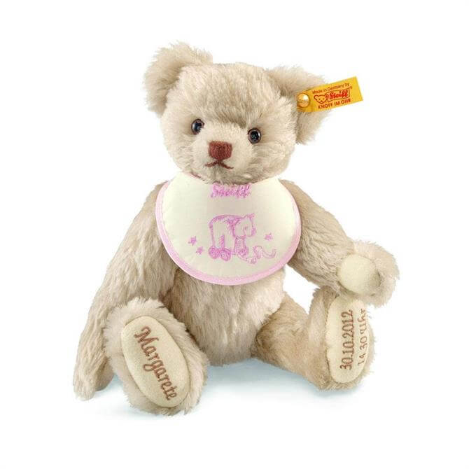 Steiff Personalised Birth Pink Bear