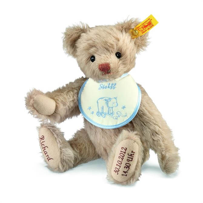Steiff Personalised Birth Blue Bear