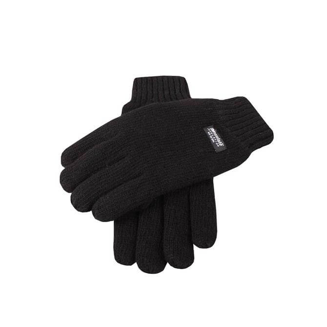 Dents Mens Knitted Thinsulate Lining Gloves