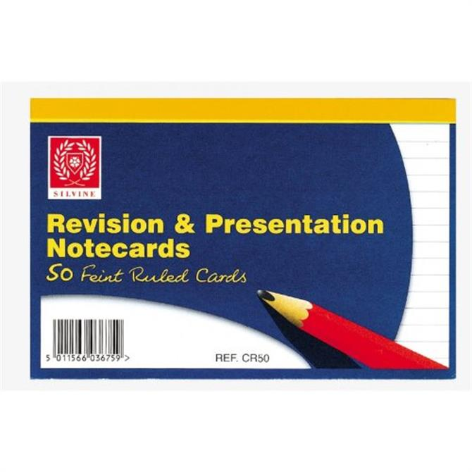 Silvine Revision Cards White