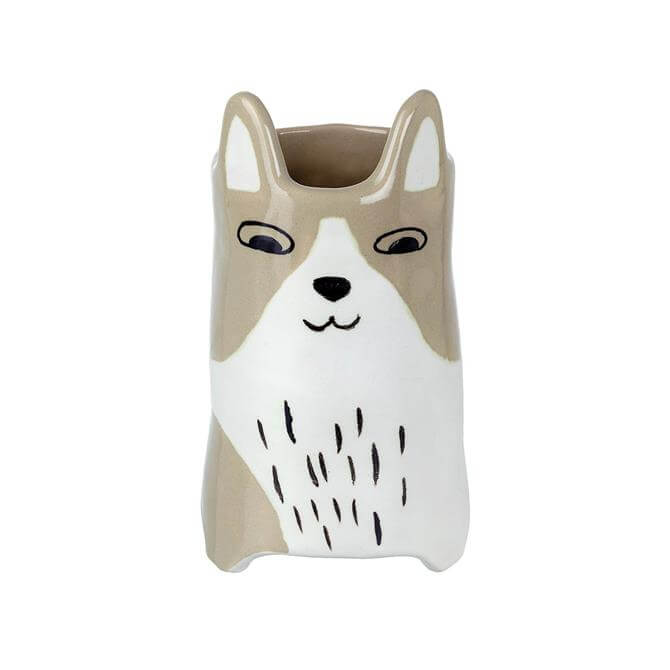 Parlane Cat Vase Ceramic Grey White