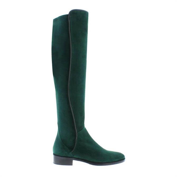 Carl Scarpa Emma Boots Green Suede