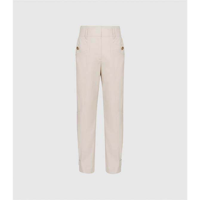 REISS MADELINE Front Pocket Tapered Trousers