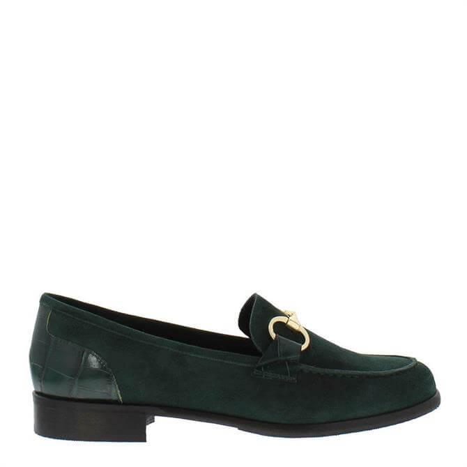 Carl Scarpa Sabana Loafers Green Suede