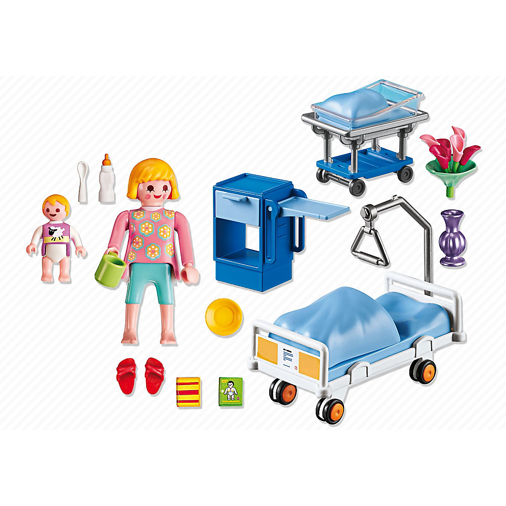 Playmobil maternity room 6660 jarrold norwich for Playmobil dining room 5335