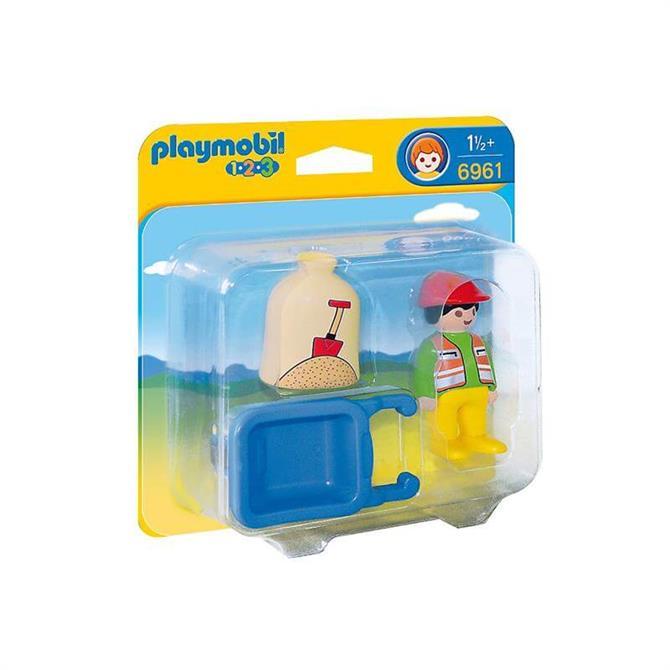 Playmobil Worker With Wheelbarrow 6961
