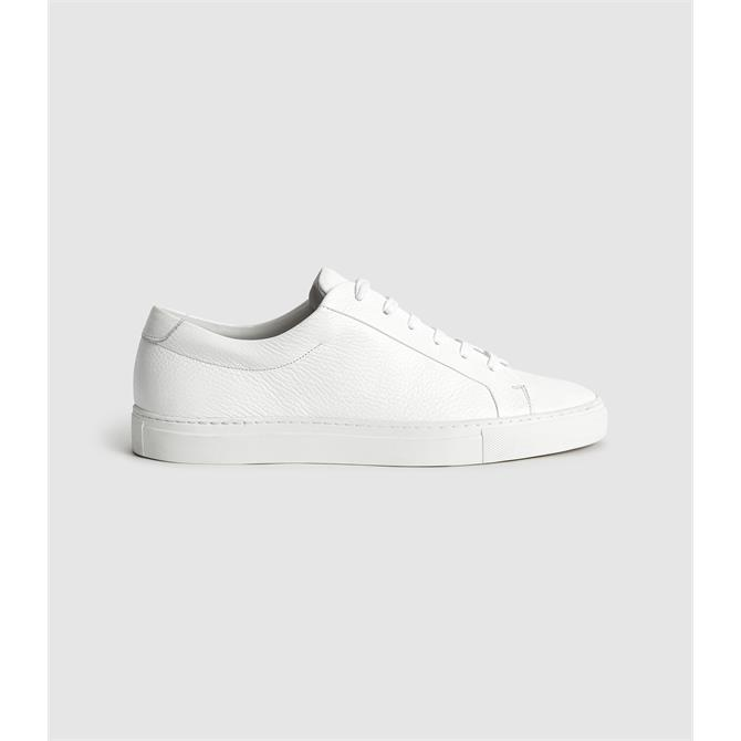 REISS LUCA Tumbled Leather Sneakers