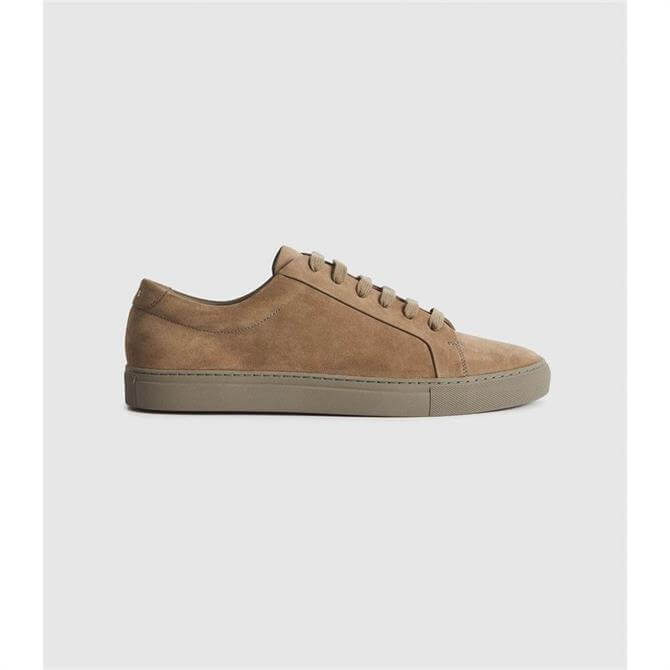REISS LUCA Nubuck Leather Trainers