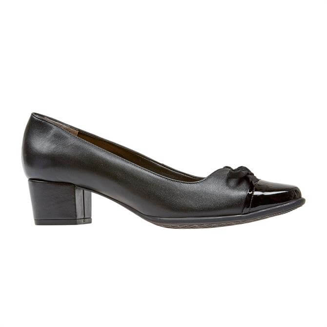 VanDal Ladies Stevie Black Patent Court Shoe