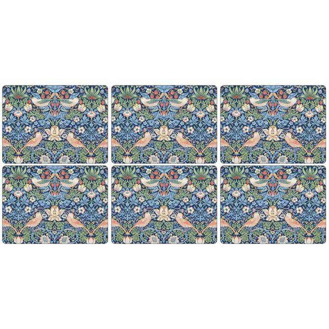 Pimpernel Morris & Co Strawberry Thief Placemat: Set Of 6