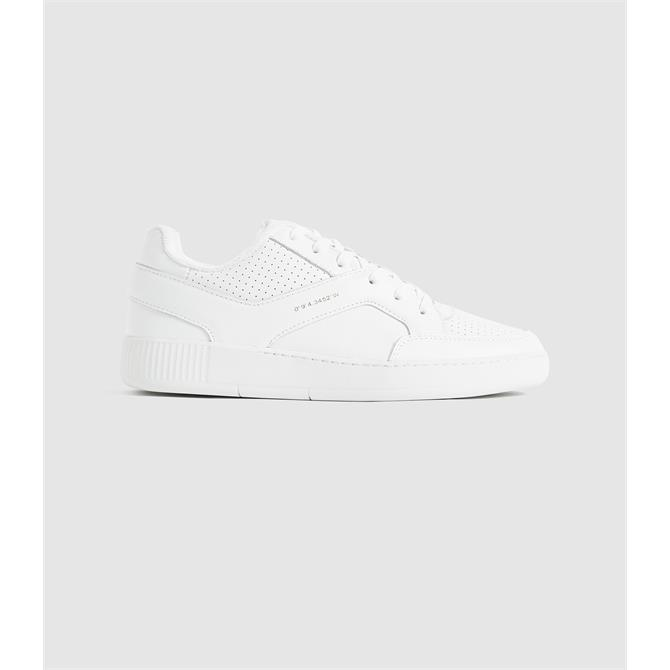 REISS GRENDON White Leather Trainers