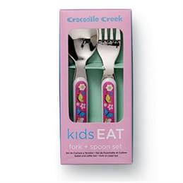 Crocodile Creek Backyard Friends Cutlery