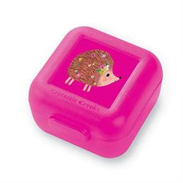 Crocodile Creek Hedgehog Snack Box Pink Set of 2