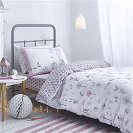 Little Bianca Nordic Cotton Pink Duvet Cover Set