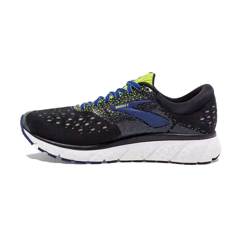 63c9e63d347 Brooks Men s Glycerin 16 Running Shoe - Black Lime Blue