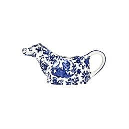 Burleigh Blue Royal Peacock Cow Creamer