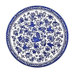Burleigh Blue Regal Peacock 25cm Dinner Plate